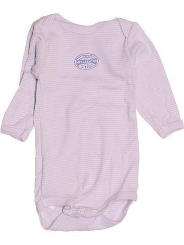 T-shirt manches longues garçon PETIT BATEAU blanc 3 mois hiver #1507653_1