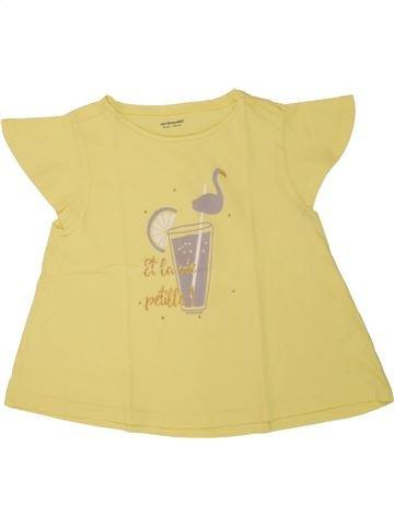 Camiseta de manga corta niña VERTBAUDET amarillo 8 años verano #1507959_1