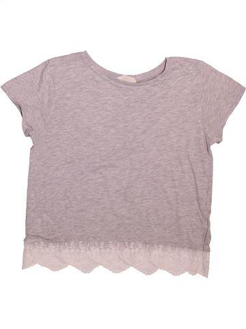 Camiseta de manga corta niña H&M gris 14 años verano #1508614_1