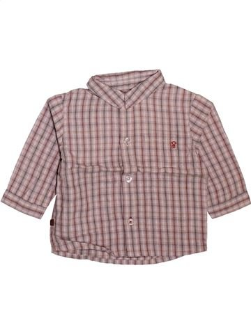 Chemise manches longues garçon OKAIDI rose 6 mois hiver #1508782_1