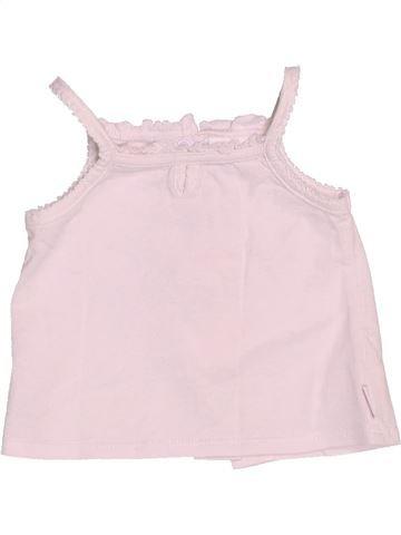 T-shirt sans manches fille P'TIT BISOU rose 6 mois été #1509589_1