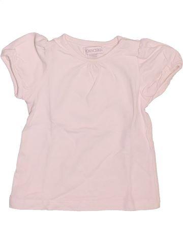 Camiseta de manga corta niña OKAIDI blanco 1 mes verano #1509755_1