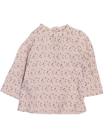 T-shirt manches longues fille OKAIDI rose 3 mois hiver #1509769_1