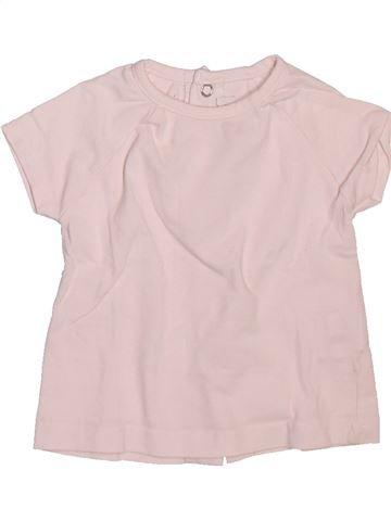 T-shirt manches courtes fille BERLINGOT rose 3 mois été #1509774_1