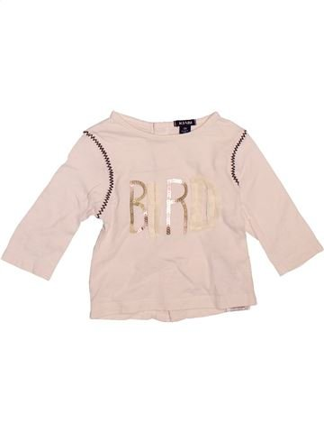 T-shirt manches longues fille KIABI violet 3 mois hiver #1510132_1