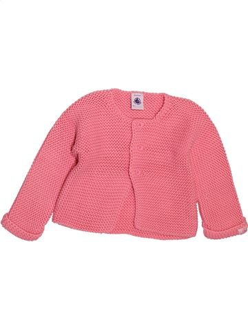 Chaleco niña PETIT BATEAU rosa 12 meses invierno #1510171_1