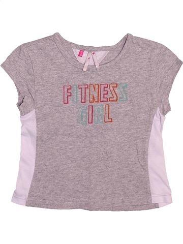 T-shirt manches courtes fille ORCHESTRA rose 3 ans été #1510263_1