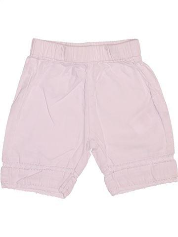 Short-Bermudas niña VERTBAUDET blanco 6 meses verano #1510296_1