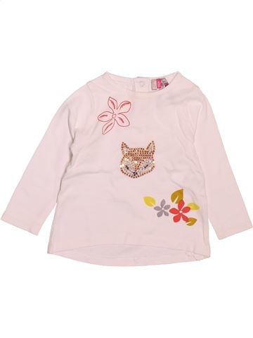 T-shirt manches longues fille ORCHESTRA rose 6 mois hiver #1510507_1