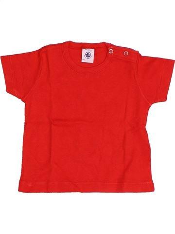 Camiseta de manga corta niño PETIT BATEAU rojo 6 meses verano #1510653_1