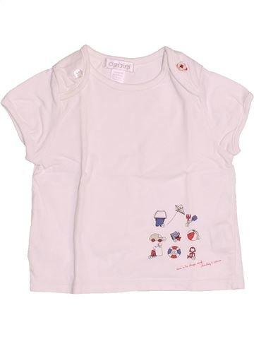 T-shirt manches courtes garçon OKAIDI blanc 6 mois été #1510674_1