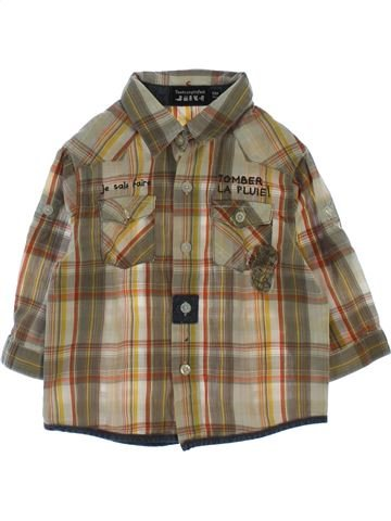 Camisa de manga larga niño TOUT COMPTE FAIT marrón 12 meses invierno #1510720_1