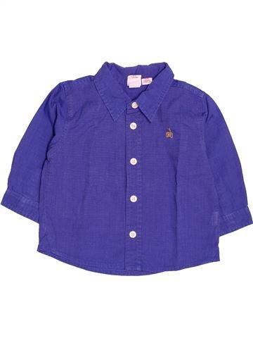 Chemise manches longues garçon GAP violet 12 mois hiver #1510724_1