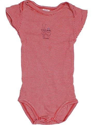 T-shirt manches courtes garçon PETIT BATEAU rose 12 mois été #1511496_1
