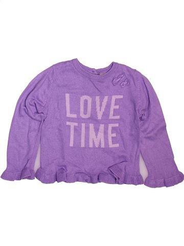Pull fille GRAIN DE BLÉ violet 2 ans hiver #1512038_1