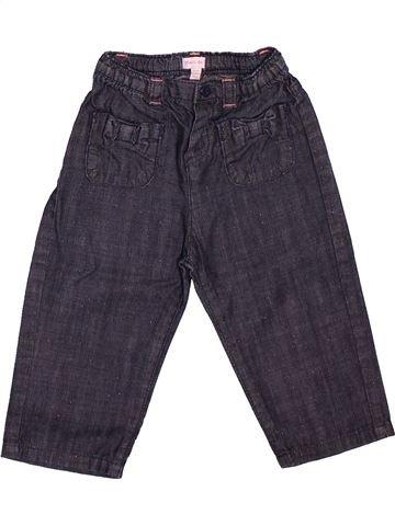 Pantalon fille GRAIN DE BLÉ bleu 12 mois été #1512053_1