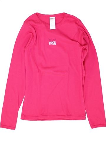 T-shirt manches longues fille ABSORBA rose 12 ans hiver #1512149_1