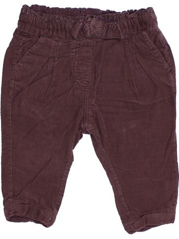 Pantalon fille TAPE À L'OEIL marron 6 mois hiver #1512411_1