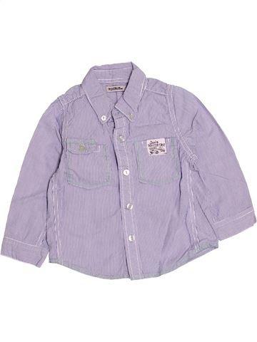 Chemise manches longues garçon TAPE À L'OEIL violet 2 ans hiver #1513048_1