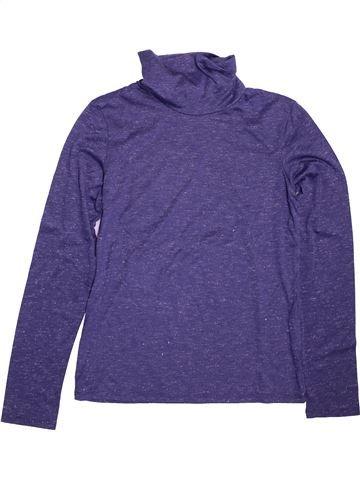 T-shirt col roulé fille LH BY LA HALLE bleu 14 ans hiver #1513197_1