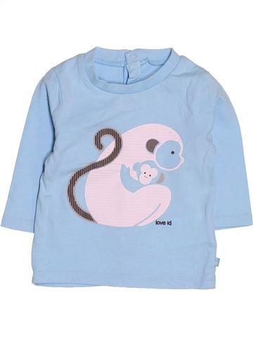 T-shirt manches longues garçon OKAIDI bleu 3 mois hiver #1513243_1