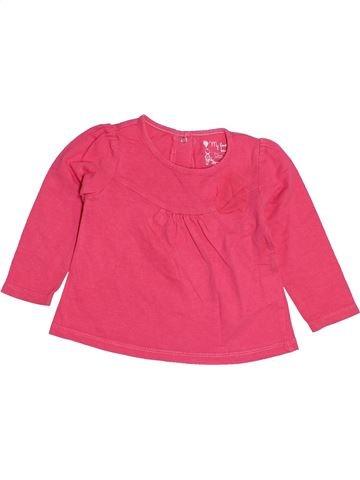 T-shirt manches longues fille TAPE À L'OEIL rose 12 mois hiver #1513804_1