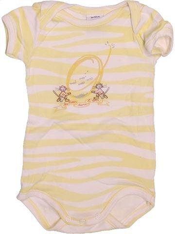 T-shirt manches courtes garçon PETIT BATEAU beige 3 mois été #1514380_1