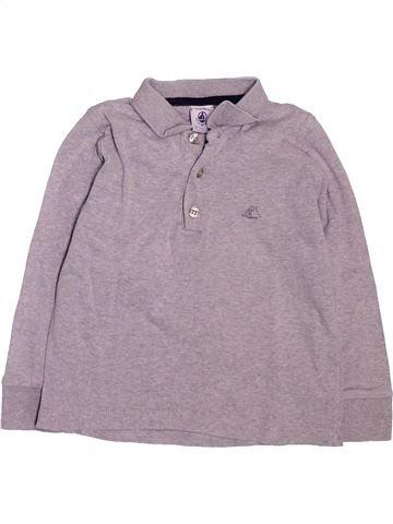 Polo manches longues garçon PETIT BATEAU violet 3 ans hiver #1514433_1