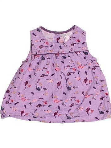 Blouse manches courtes fille OKAIDI violet 9 mois été #1514807_1