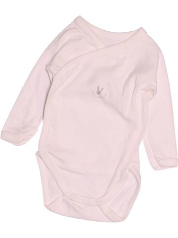 T-shirt manches longues garçon PETIT BATEAU blanc 3 mois hiver #1515185_1