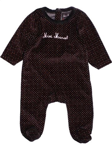 Pyjama 1 pièce fille LITTLE MARCEL marron 3 mois hiver #1515236_1