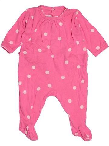 Pyjama 1 pièce fille PETIT BATEAU rose 3 mois été #1515946_1
