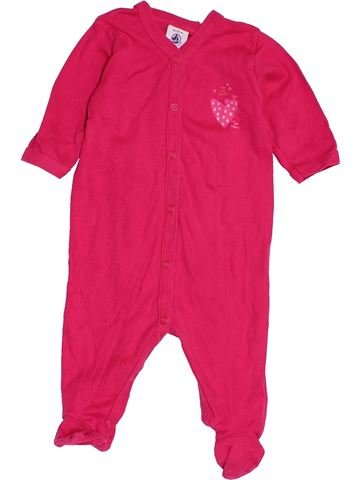 Pyjama 1 pièce fille PETIT BATEAU rose 3 mois été #1515951_1