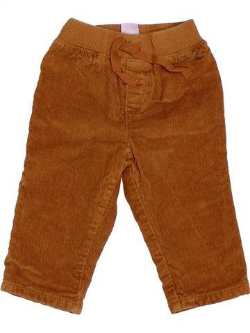 Pantalon garçon PETIT BATEAU marron 6 mois hiver #1516027_1