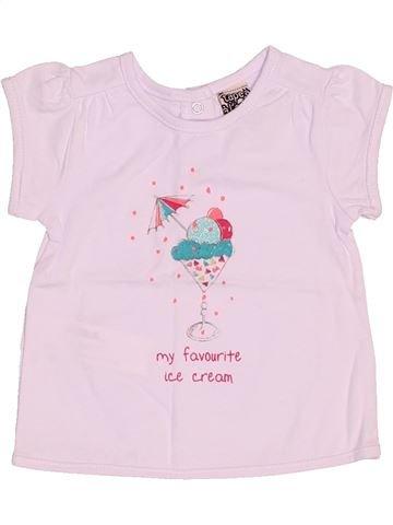 T-shirt manches courtes fille TAPE À L'OEIL rose 3 mois été #1517089_1