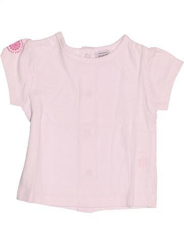 T-shirt manches courtes fille LES BEBES SONT COMME ÇA blanc 6 mois été #1517630_1