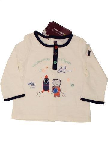 T-shirt manches longues garçon SERGENT MAJOR blanc 9 mois hiver #1518478_1