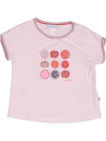 T-shirt manches courtes fille OKAIDI rose 6 mois été #1519195_1