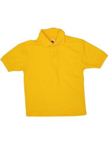 Polo manches courtes garçon FRUIT OF THE LOOM orange 4 ans été #1519406_1