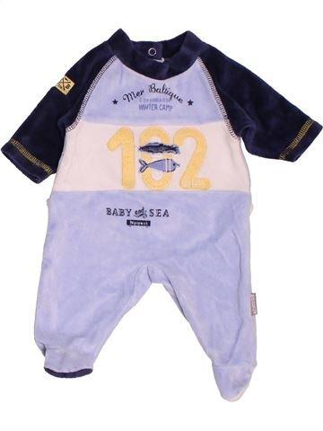 Pyjama 1 pièce garçon ABSORBA gris naissance hiver #1519956_1