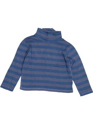 T-shirt col roulé garçon KIABI bleu 5 ans hiver #1520420_1