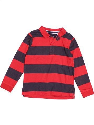 Polo manches longues garçon MONOPRIX rouge 4 ans hiver #1520638_1