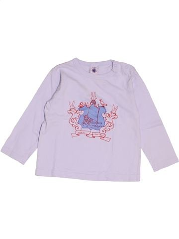 T-shirt manches longues garçon PETIT BATEAU rose 2 ans hiver #1520718_1