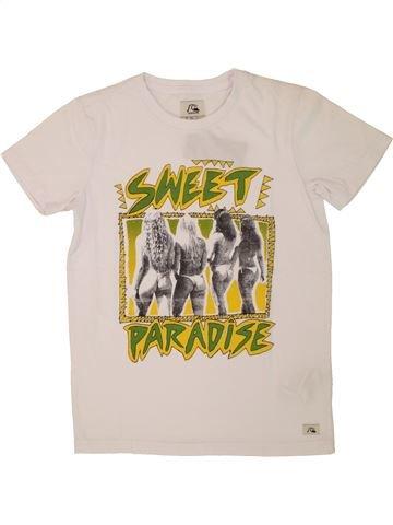 T-shirt manches courtes garçon QUIKSILVER blanc 10 ans été #1520963_1