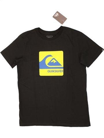 T-shirt manches courtes garçon QUIKSILVER noir 10 ans été #1520981_1