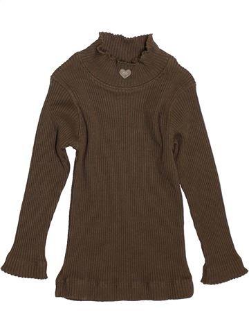 T-shirt manches longues fille LILI GAUFRETTE marron 2 ans hiver #1521506_1