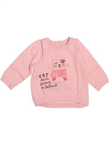 Sweat fille DPAM rose 9 mois hiver #1521629_1