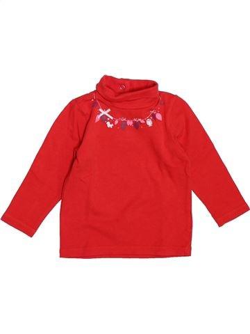 T-shirt col roulé fille CADET ROUSSELLE rouge 6 mois hiver #1521649_1