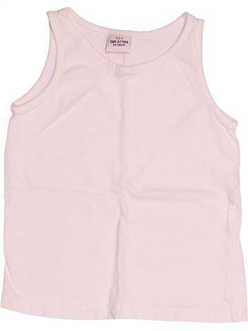 T-shirt sans manches fille TAPE À L'OEIL blanc 3 ans été #1521811_1