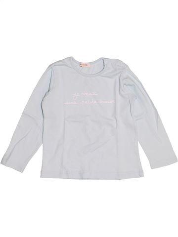 T-shirt manches longues fille GRAIN DE BLÉ blanc 2 ans hiver #1523320_1
